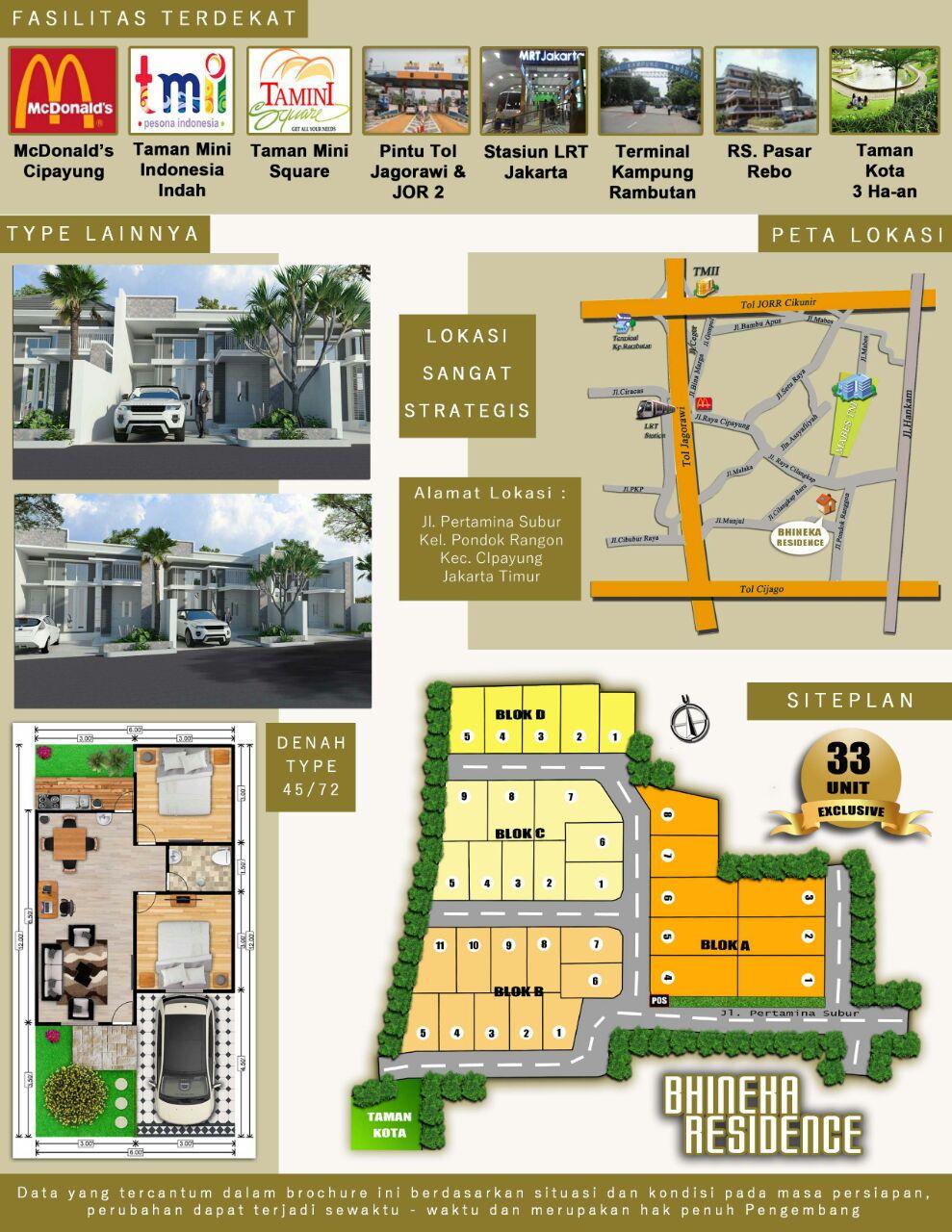 Lokasi dan sarana sekitar Bhineka Residence