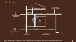 peta lokasi arandra residence